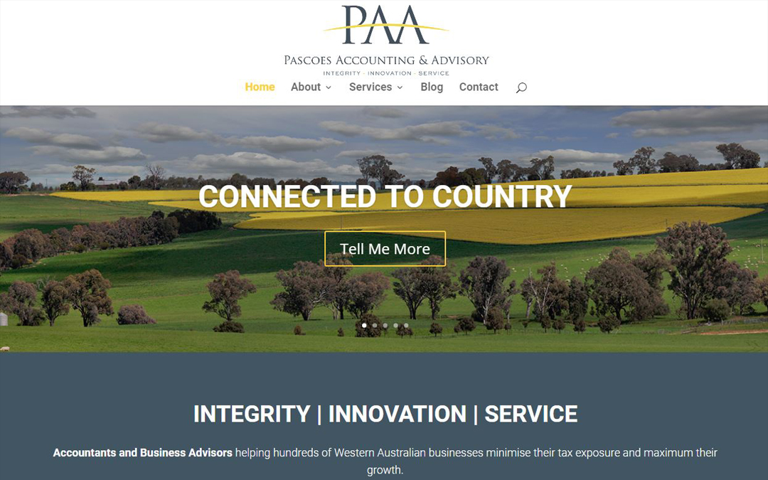 Pascoes Accounting and Advisory | Website Now Live