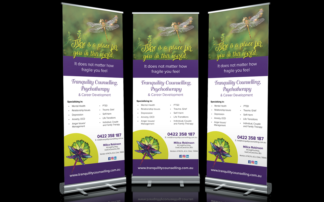 Tranquility Counselling Psychotherapy and Career Development | Stand Up Banners