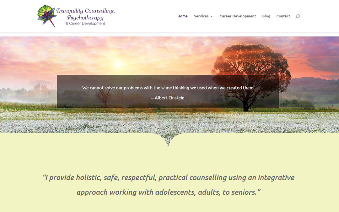 Tranquility Counselling Website