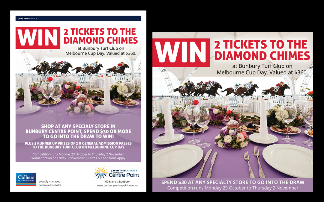 Bunbury Centre Point Mall Card Melboure Cup 2017