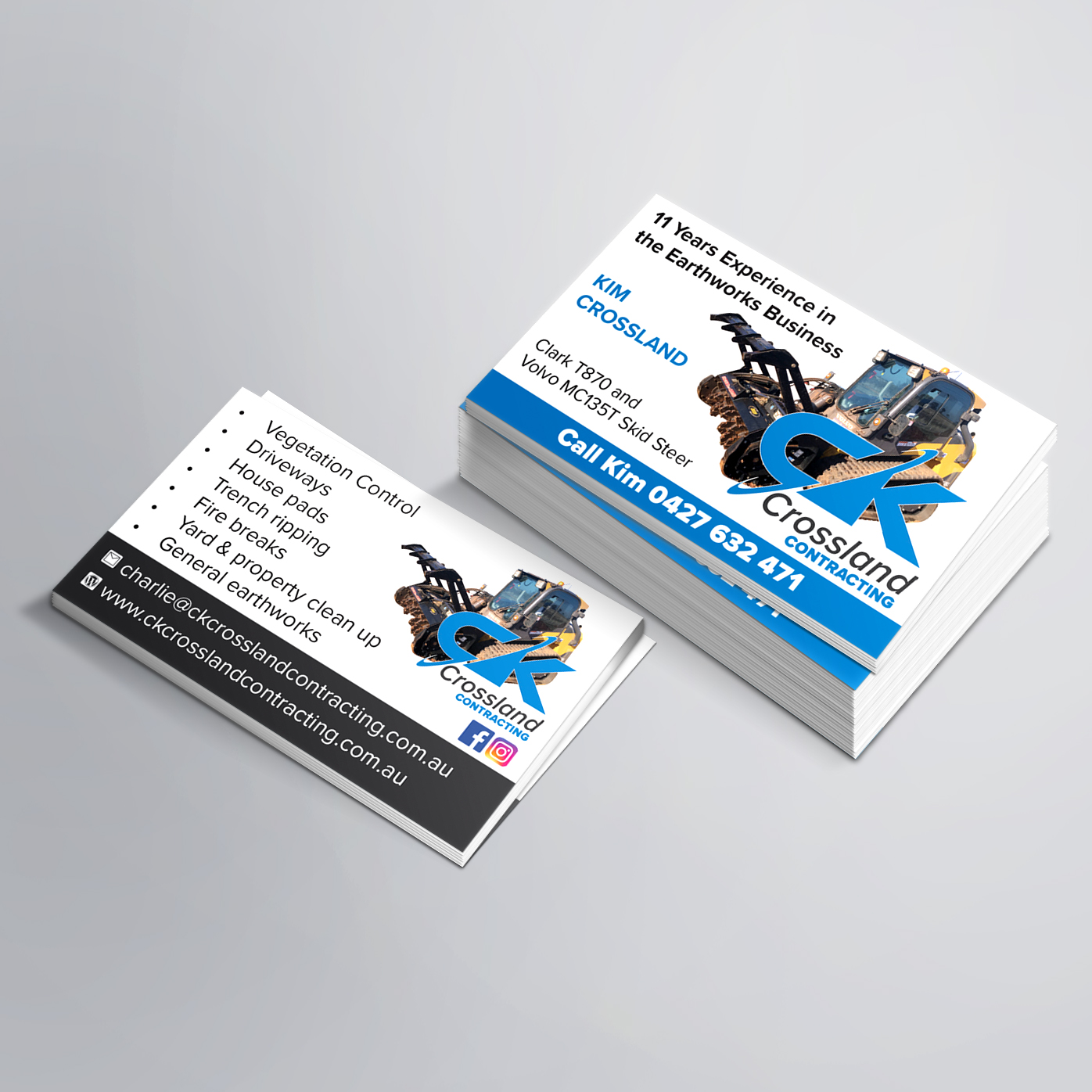 CK Crossland Contracting Business Cards
