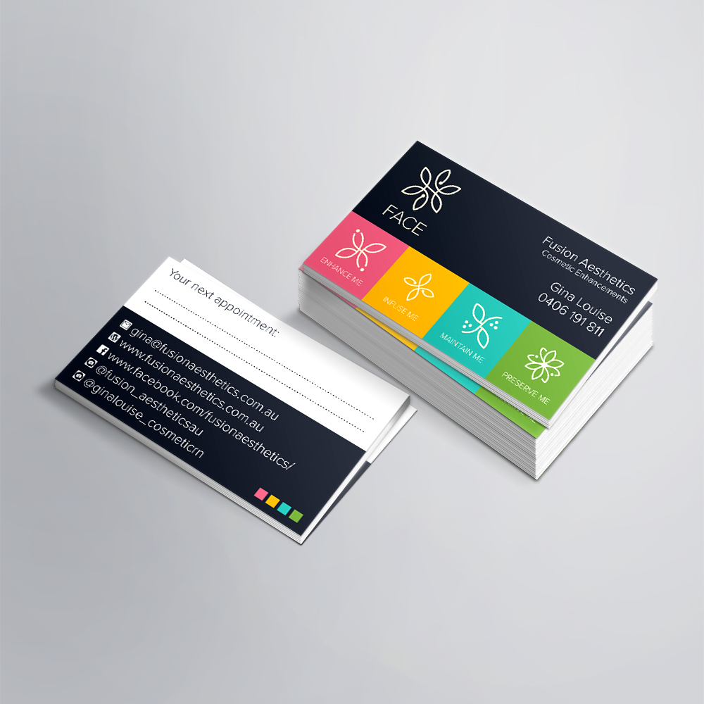 Fusion Aesthetics Business Cards