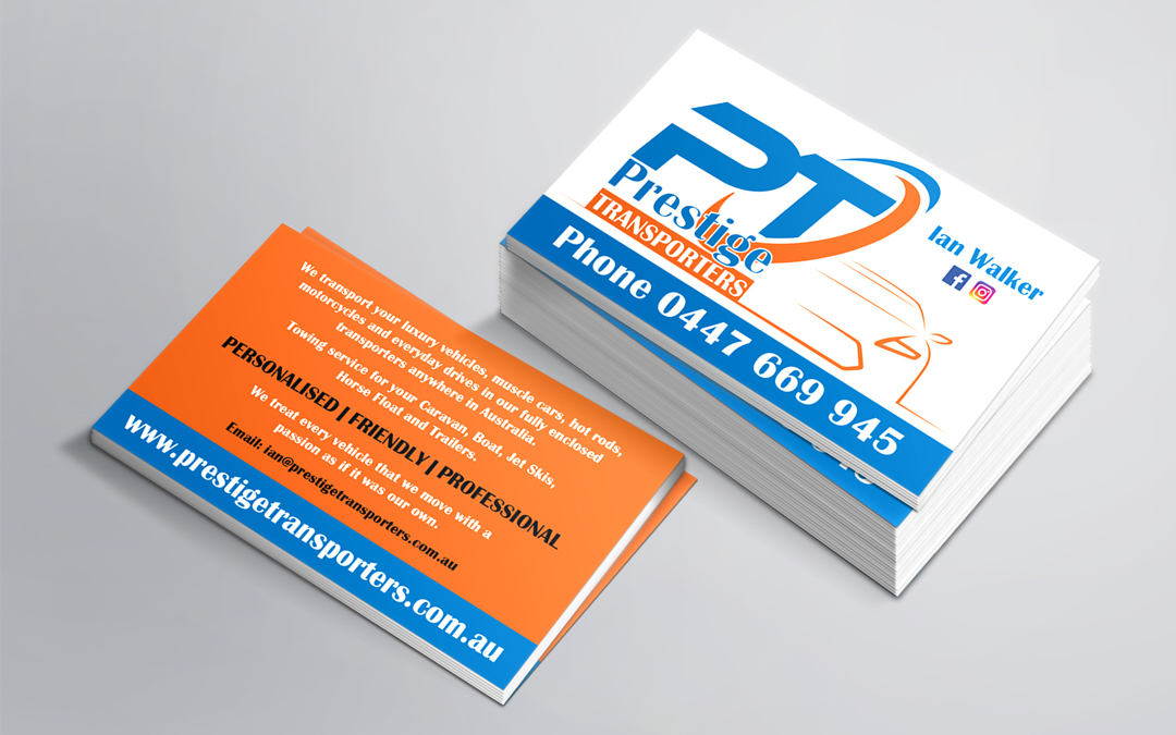 Prestige Transporters Business Cards