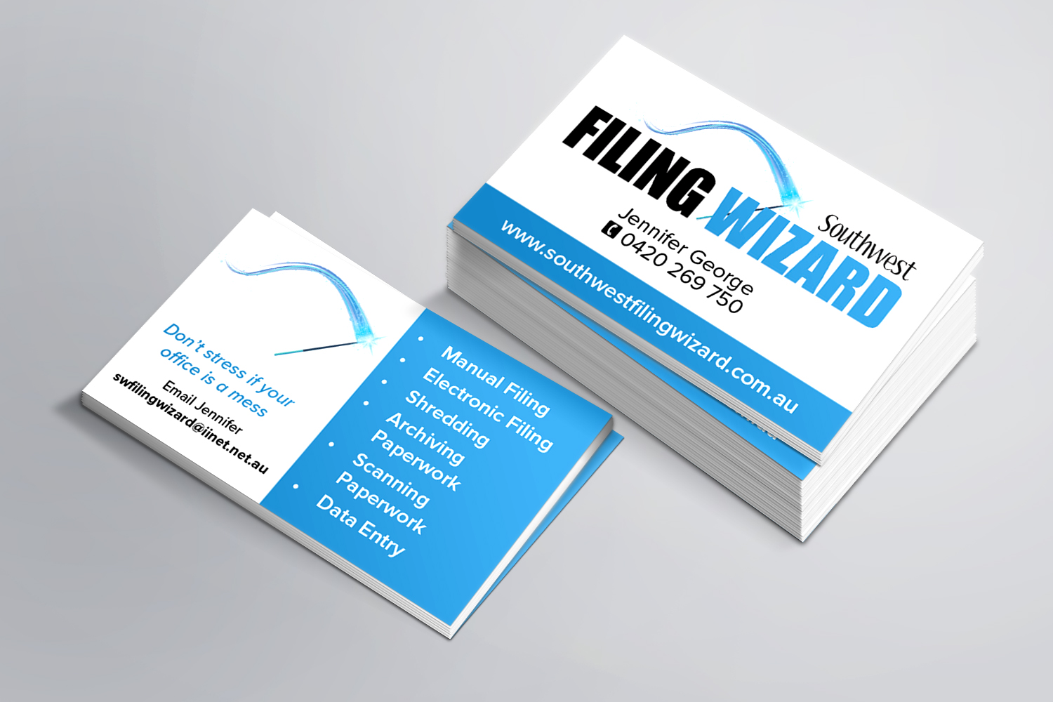 Southwest Filing Wizard Business Cards