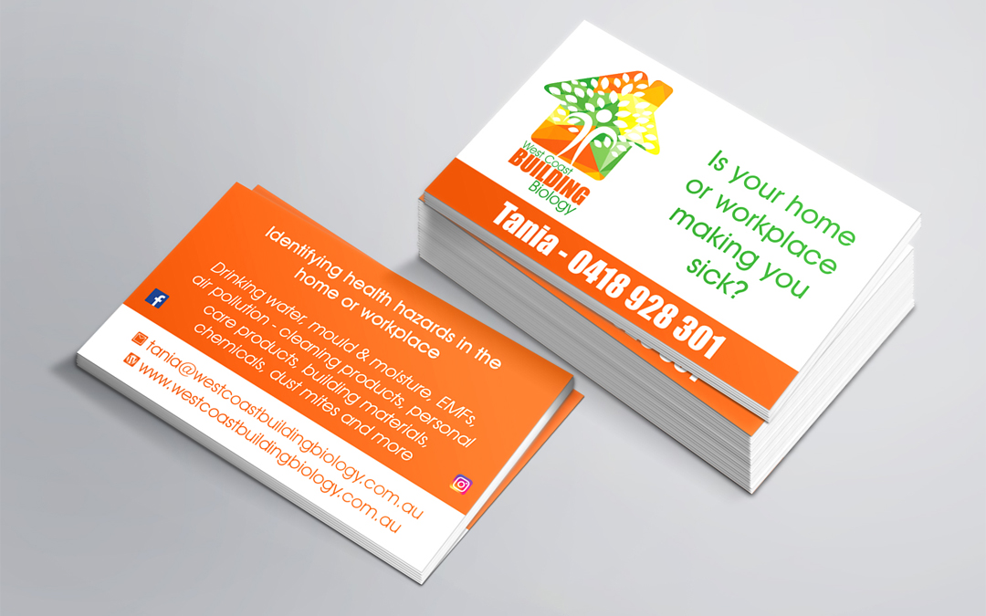 West Coast Building Biology Business Cards