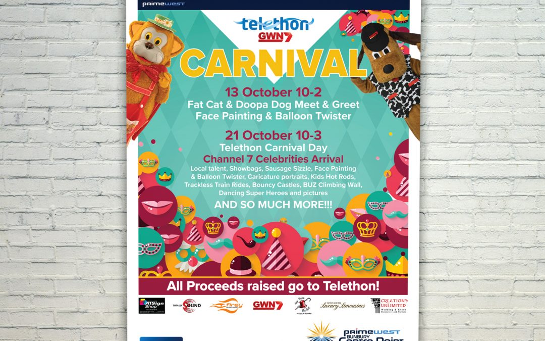 Bunbury Centre Point Mall Cards – Telethon 2018