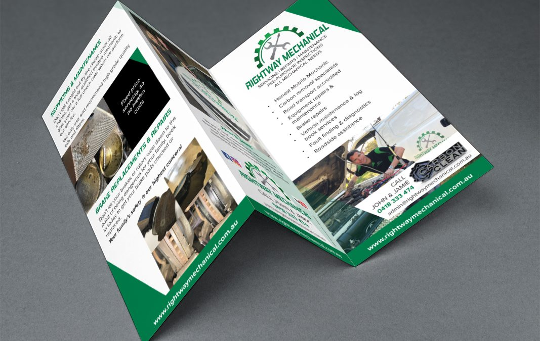 Rightway Mechanical Trifold DL Flyer