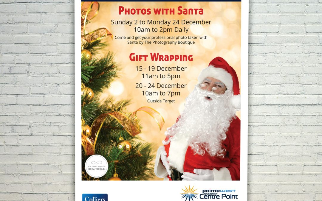 Photos With Santa Mall Cards