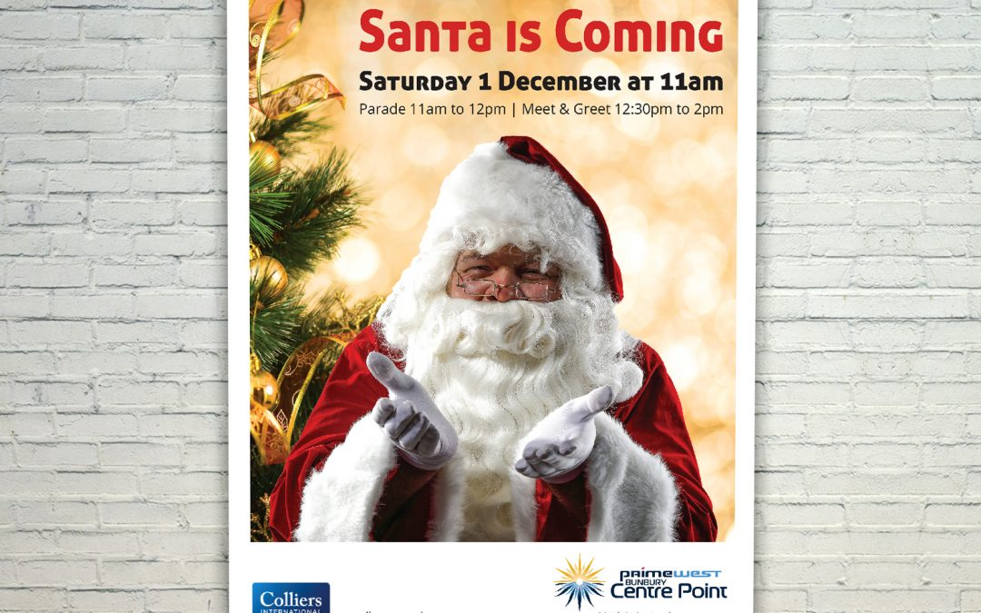 Santa is Coming Mall Card