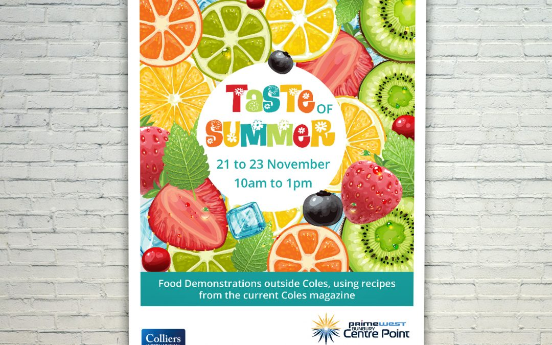 Taste of Summer Mall Cards - Web and Print Hub