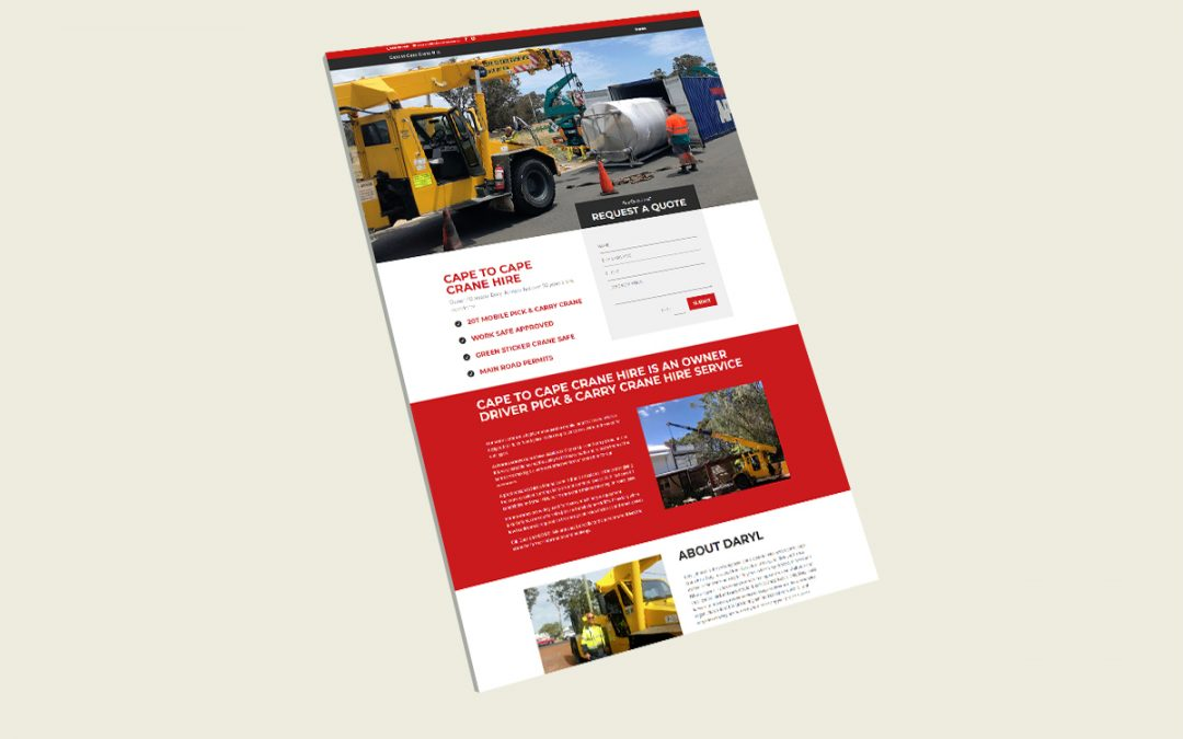 Cape to Cape Crane Hire Website