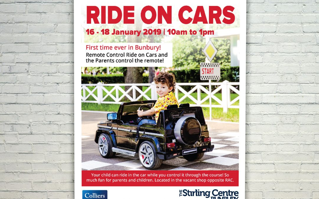 Stirling Centre Mall Card Ride On Cars