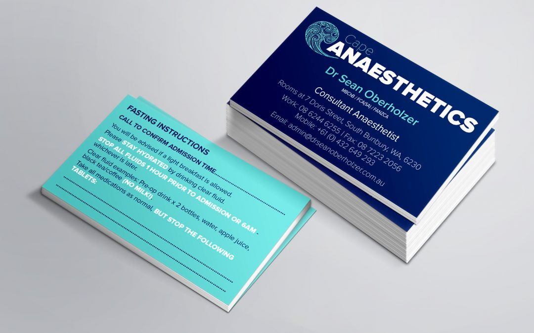 Cape Anaesthetics Business Cards