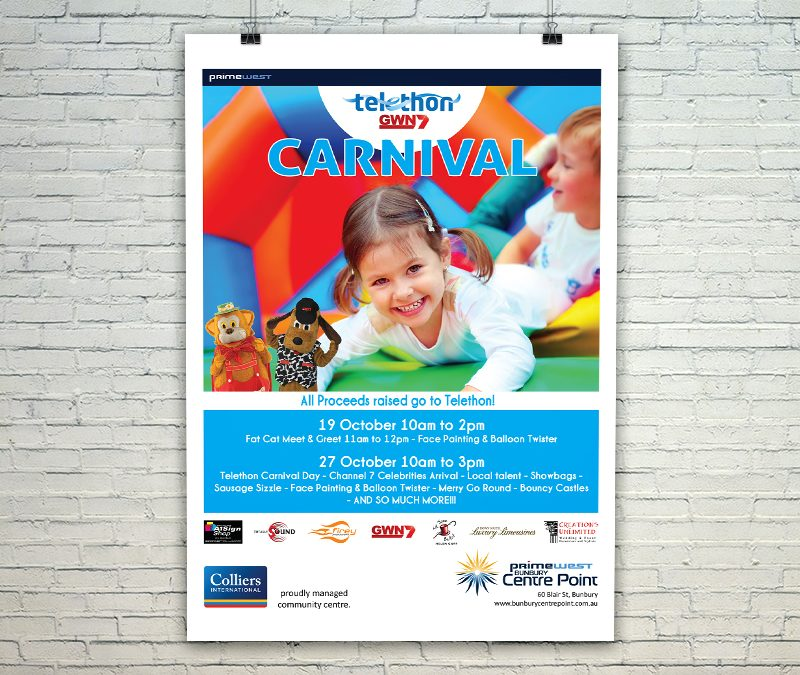 Bunbury Centre Point Mall Card - Telethon 2019