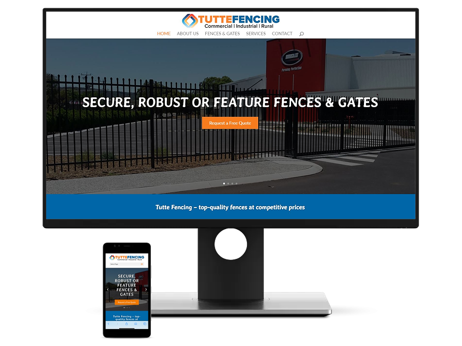 Tutte Fencing Website, Logo & Business Cards