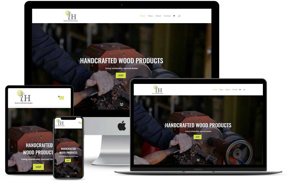Heartwood Timber Designs Website