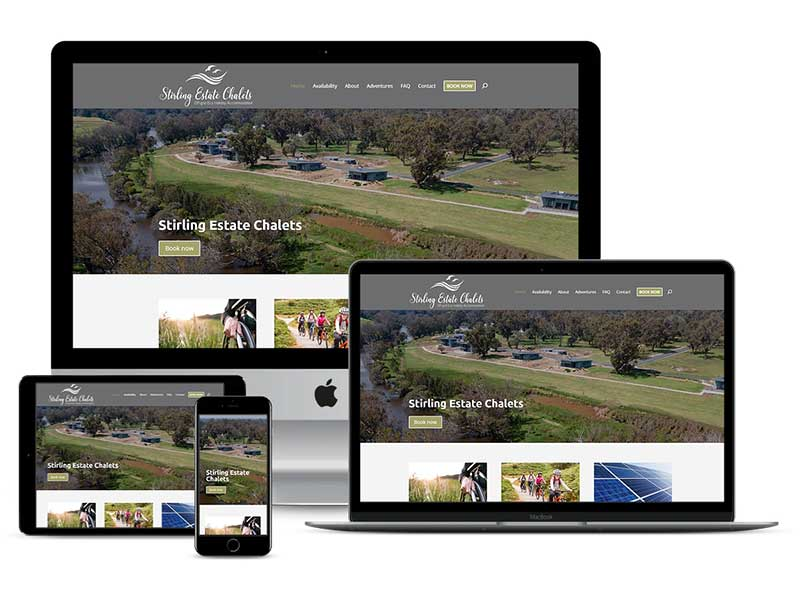 Stirling Estate Chalets Website Design
